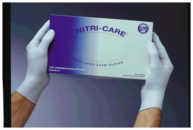 SHOWA NITRI-CARE Nitrile Exam Gloves Large (8-9):Gloves, Glasses and Safety