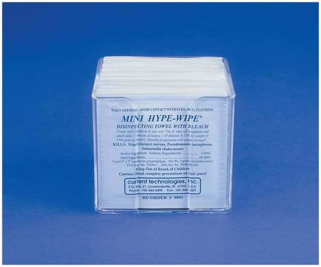 Current Technologies Clear Acrylic Holders for HYPE-WIPE Towelettes For