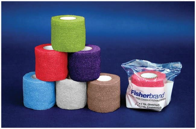 Fisherbrand Latex-Free Cohesive Flexible Bandages 2 in.; Assorted colors:Healthcare