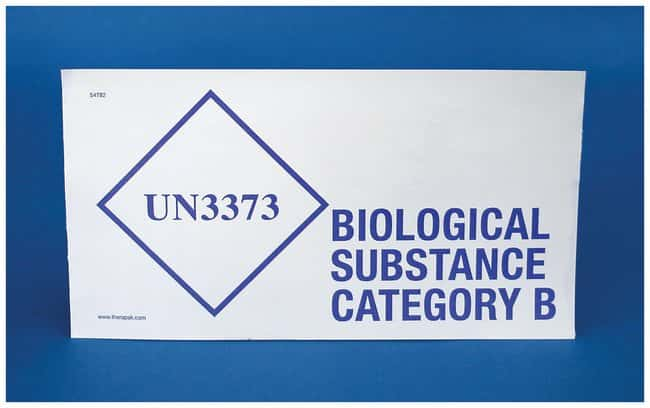 Therapak UN3373 Biological Substance Category B Labels:Gloves, Glasses