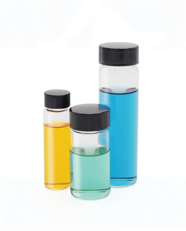 DWK Life Sciences Kimble™ ClearScrew Thread Sample Vials with Attached White Rubber Lined Caps Capacity: 2 dr.; 144/Cs. DWK Life Sciences Kimble™ ClearScrew Thread Sample Vials with Attached White Rubber Lined Caps