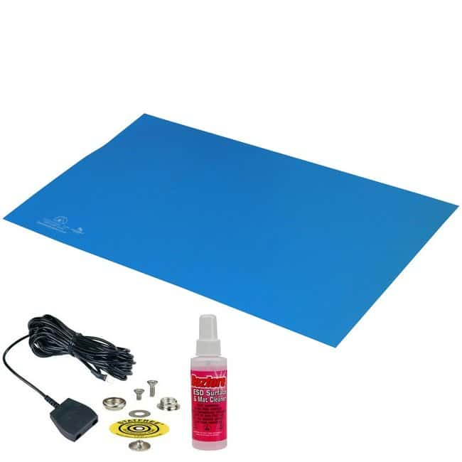 DescoStatfree T2 Premium Dissipative Dual Layer Blue Rubber Mat Top Kit