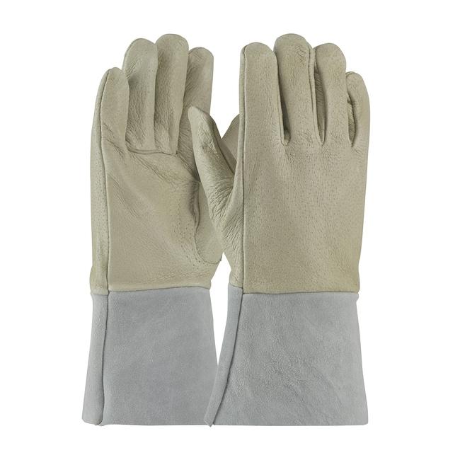 FisherbrandTop Grain Pigskin Leather Mig Tig Welding Gloves:Personal Protective