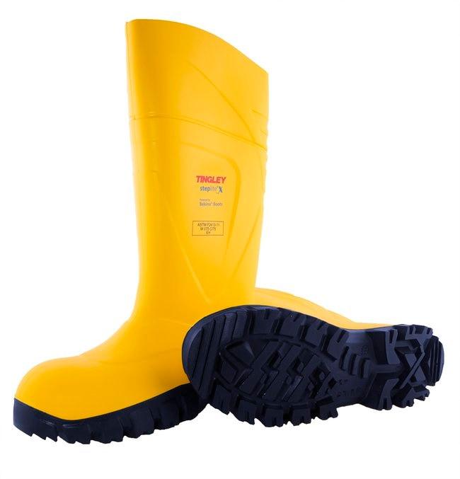 TINGLEY Steplite X Knee Boot, Yellow Upper, Navy Sole, Steel Toe Size 13