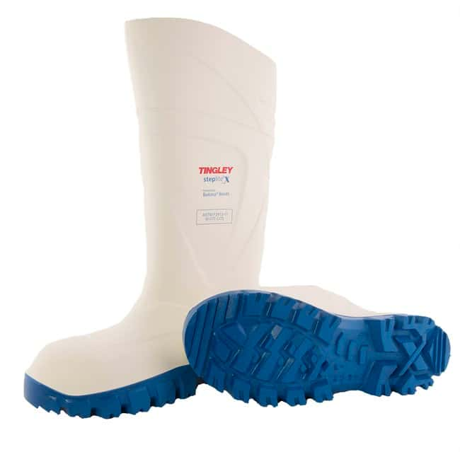 TINGLEY Steplite X Knee Boot, White Upper, Blue Sole, Steel Toe Size 13