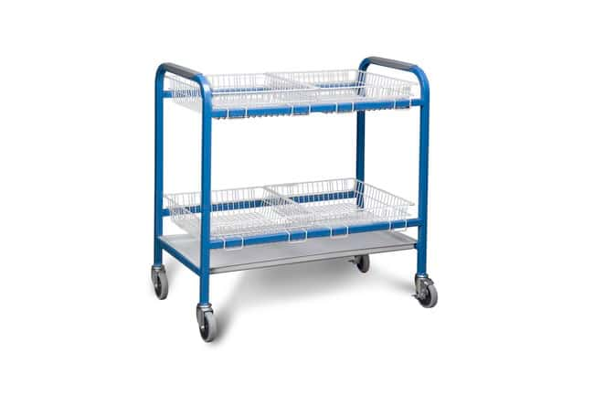 Fisherbrand Laboratory Carts and Tables 2 open shelves w/rigid PVC extrusions