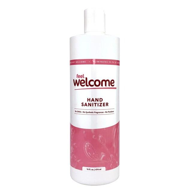 Dynamic DiagnosticsFeel Welcome Hand Sanitizer, 16 oz., 80% Ethyl Alcohol