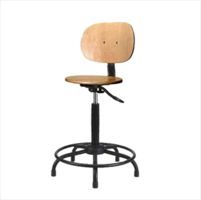 Remarkable Fisherbrand Pneumatic Stools With Wooden Seat High Bench Height Furniture Storage Casework Carts And Hoods Seating Gmtry Best Dining Table And Chair Ideas Images Gmtryco