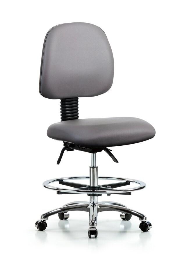FisherbrandVinyl Chair Chrome - Medium Bench Height with Medium Back, Chrome