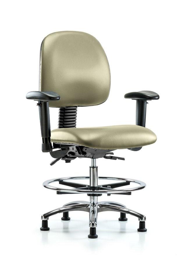 FisherbrandVinyl Chair Chrome - Medium Bench Height with Medium Back, Grade