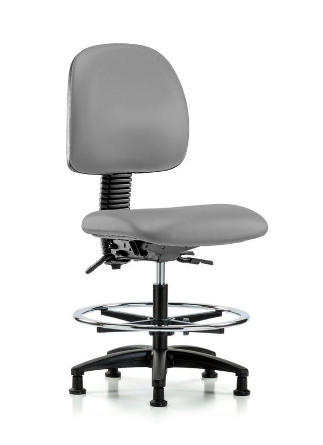 FisherbrandVinyl Chair - Medium Bench Height with Medium Back, Chrome Foot
