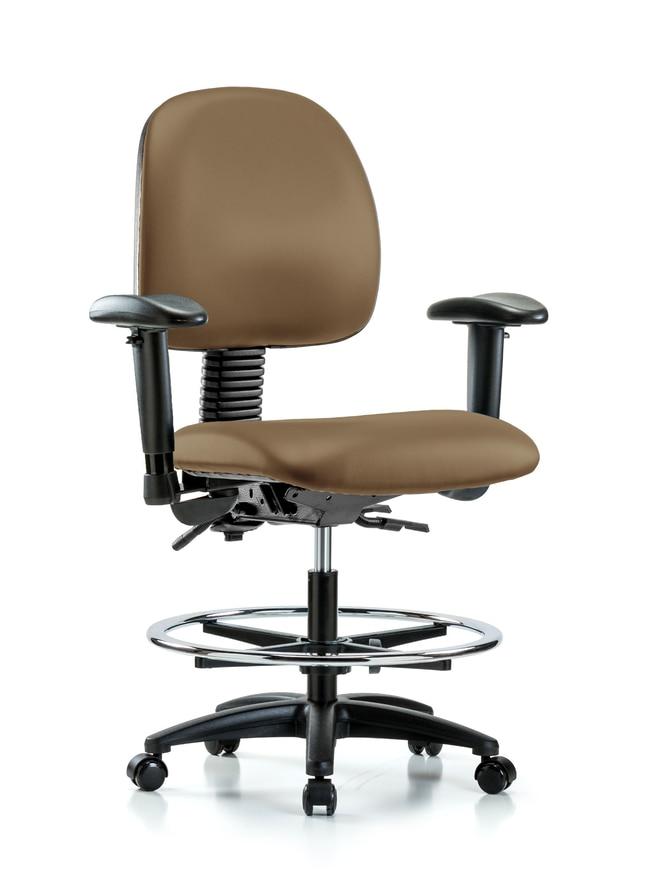 FisherbrandVinyl Chair - Medium Bench Height with Medium Back Taupe:Furniture