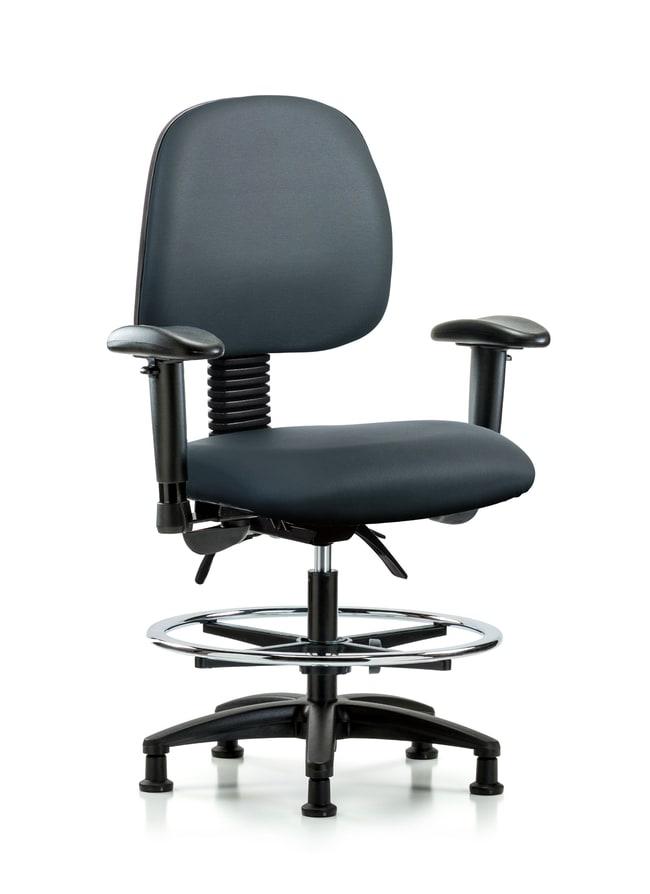 FisherbrandVinyl Chair - Medium Bench Height with Medium Back Storm:Furniture