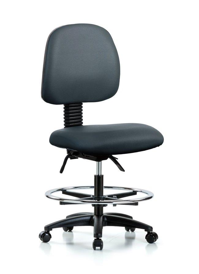 FisherbrandVinyl Chair - Medium Bench Height with Medium Back, Seat Tilt,