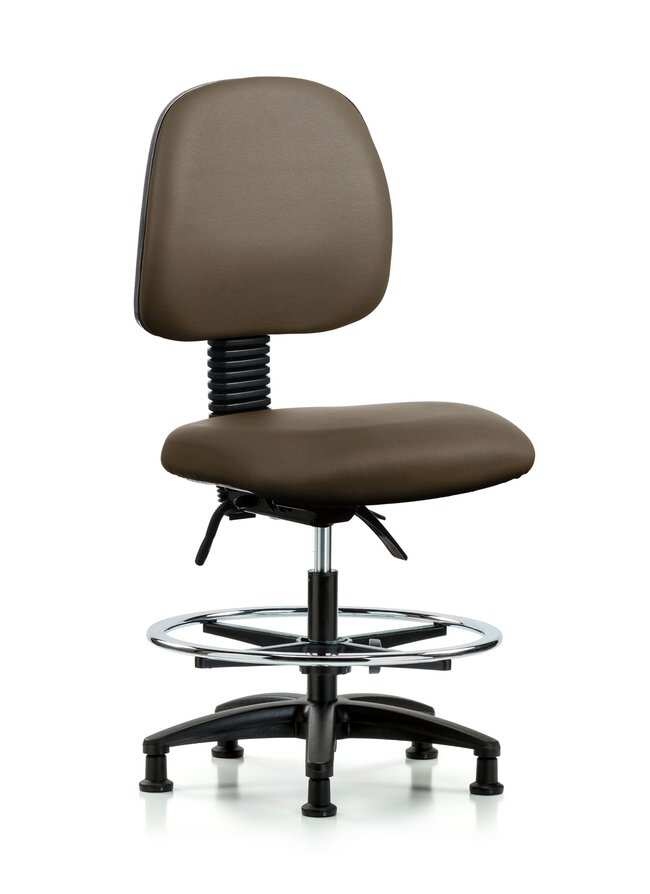 Fisherbrand Vinyl Chair - Medium Bench Height with Medium Back, Seat Tilt,