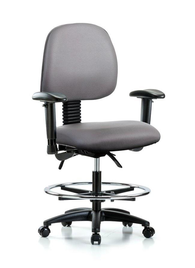 FisherbrandVinyl Chair - Medium Bench Height with Medium Back, Seat Tilt:Furniture:Seating