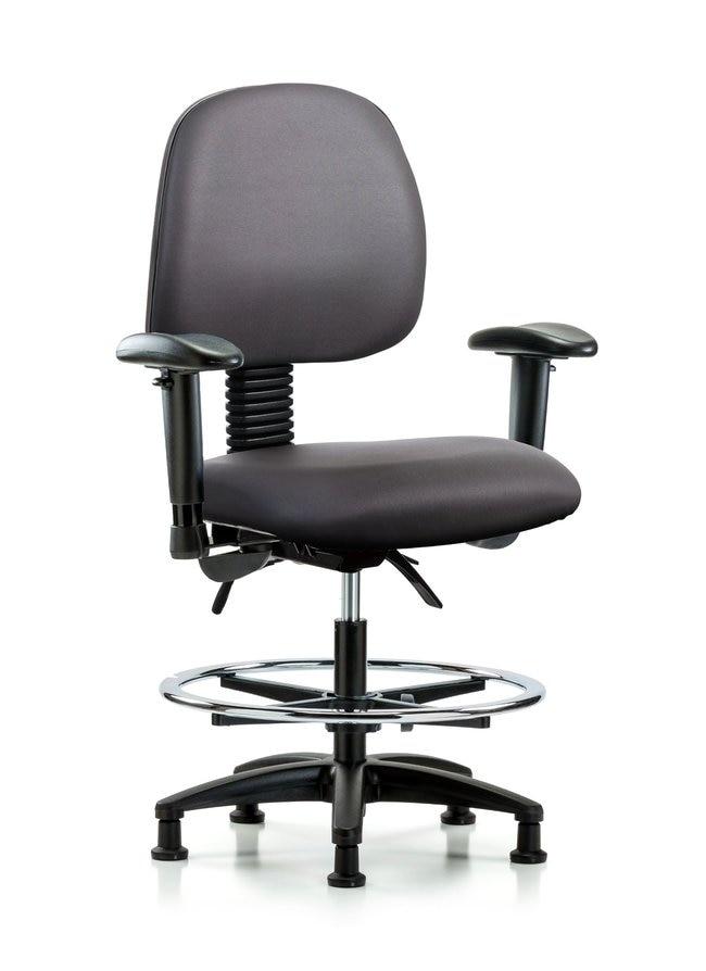 Fisherbrand Vinyl Chair - Med Bench Height with Medium Back, Seat Tilt