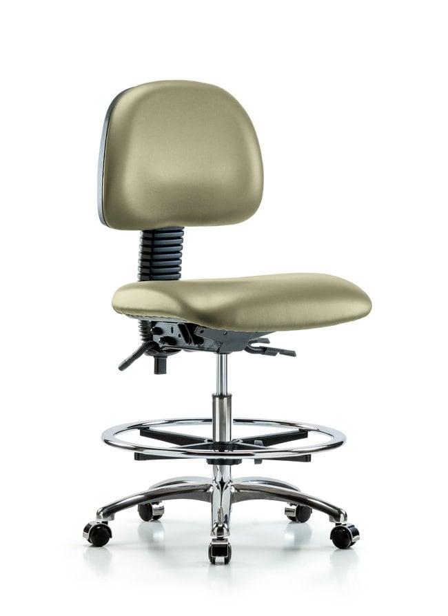 FisherbrandVinyl Chair Chrome - Medium Bench Height with Seat Tilt, Chrome