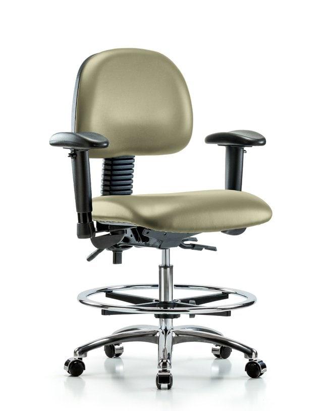FisherbrandVinyl Chair Chrome - Medium Bench Height with Seat Tilt, Adjustable