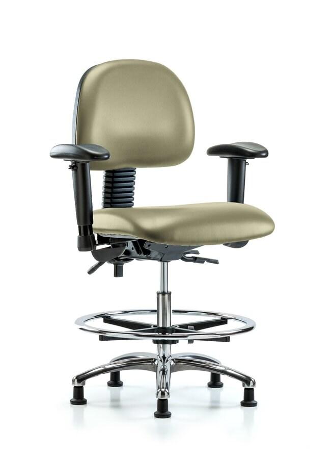 FisherbrandVinyl Chair Chrome - Medium Bench Height with Seat Tilt Adobe