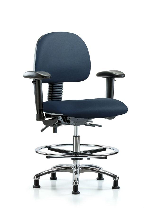 FisherbrandVinyl Chair Chrome - Medium Bench Height with Seat Tilt:Furniture:Seating