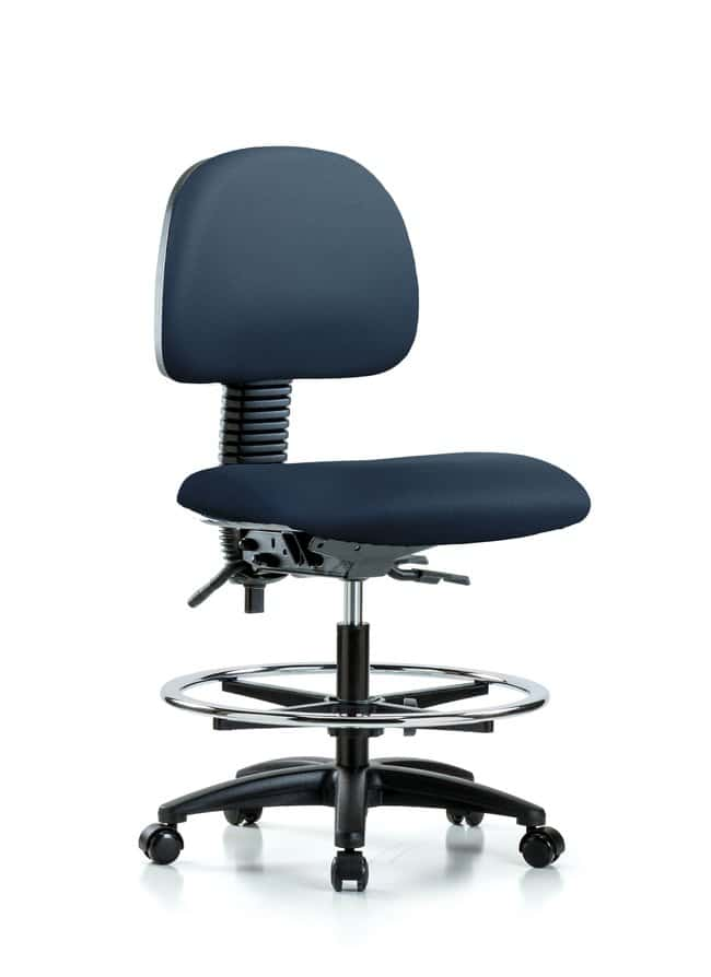 Fisherbrand Vinyl Chair - Medium Bench Height with Chrome Foot Ring and