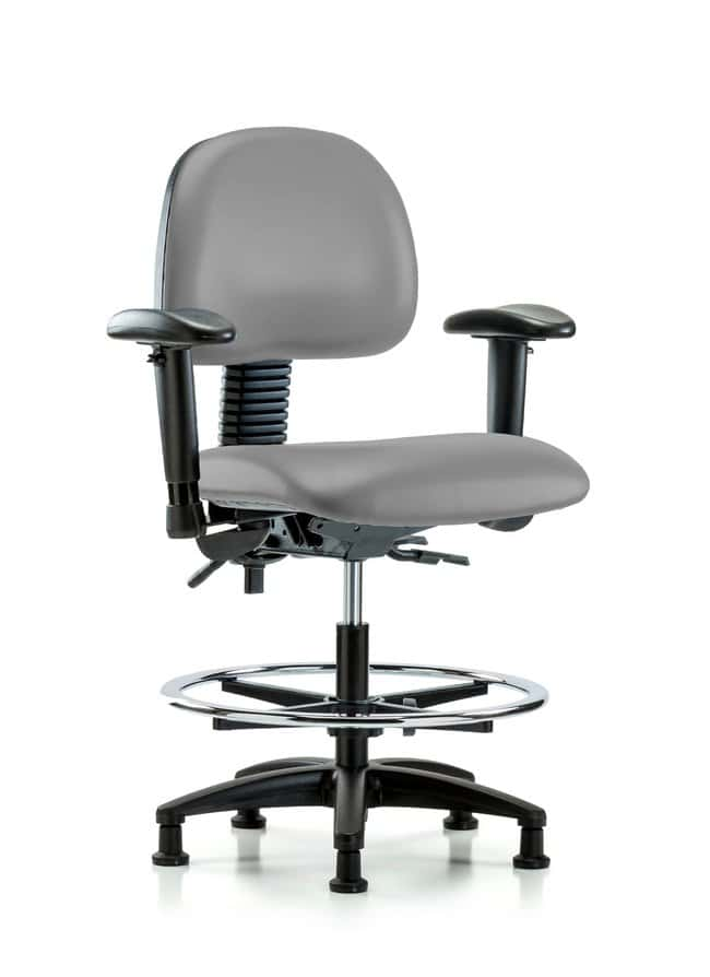 FisherbrandVinyl Chair - Medium Bench Height with Adjustable Arms, Chrome
