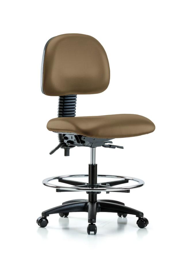 Fisherbrand Vinyl Chair - Medium Bench Height with Seat Tilt, Chrome Foot