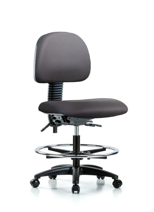 FisherbrandVinyl Chair - Medium Bench Height with Seat Tilt, Chrome Foot