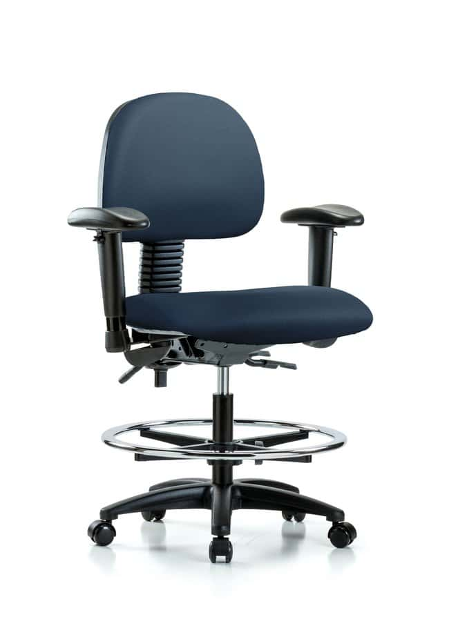 FisherbrandVinyl Chair - Medium Bench Height with Seat Tilt Marine Blue:Furniture