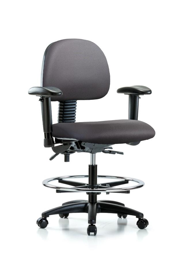 Fisherbrand Vinyl Chair - Medium Bench Height with Seat Tilt Carbon:Furniture,