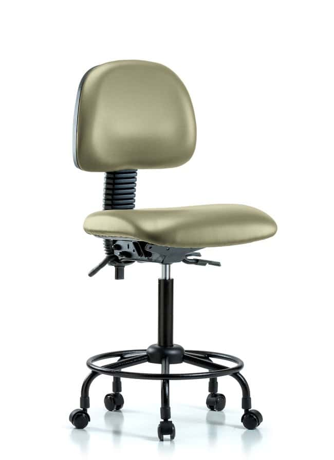 Fisherbrand Vinyl Chair - Medium Bench Height with Round Tube Base and