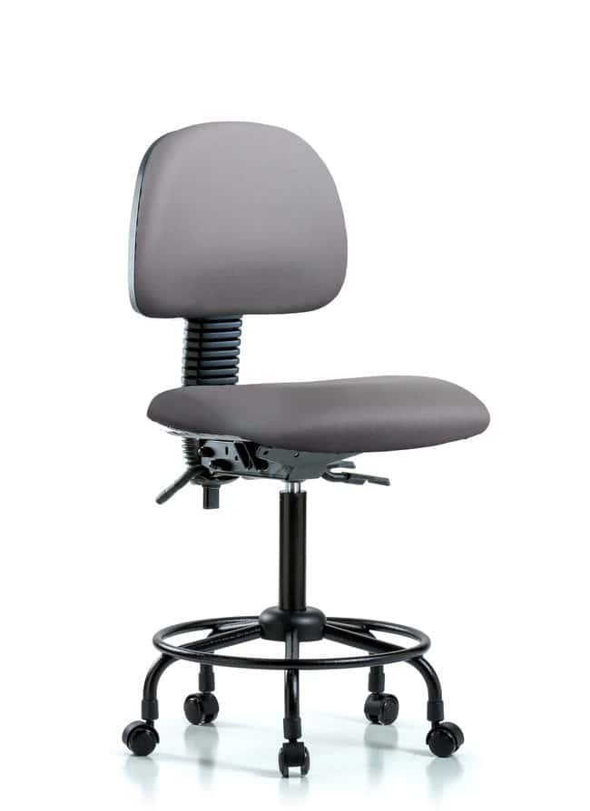 FisherbrandVinyl Chair - Medium Bench Height with Round Tube Base and Casters