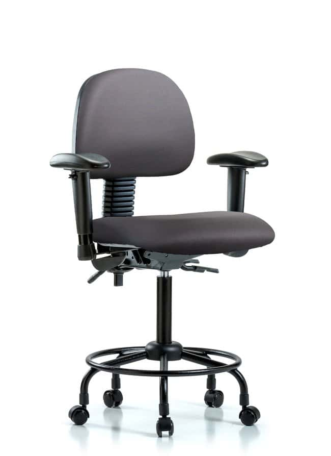 FisherbrandVinyl Chair - Medium Bench Height with Round Tube Base Carbon:Furniture