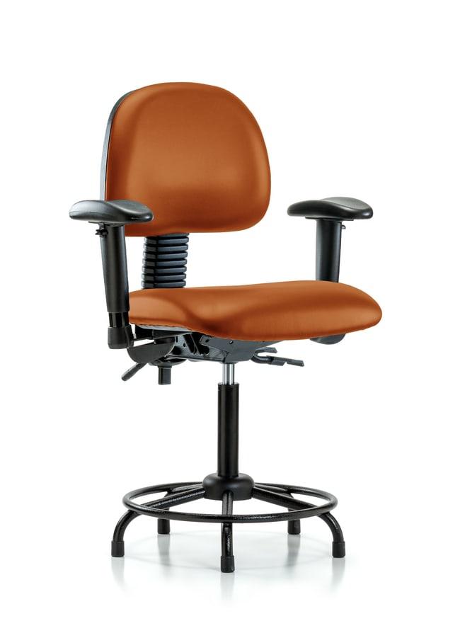 FisherbrandVinyl Chair - Medium Bench Height with Round Tube Base Orange