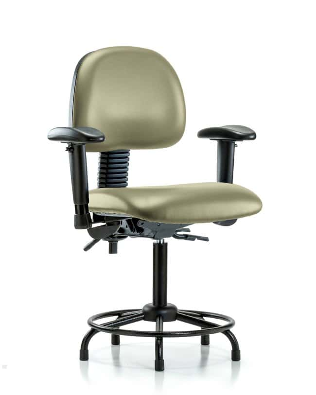 Fisherbrand Vinyl Chair - Medium Bench Height with Round Tube Base, Seat