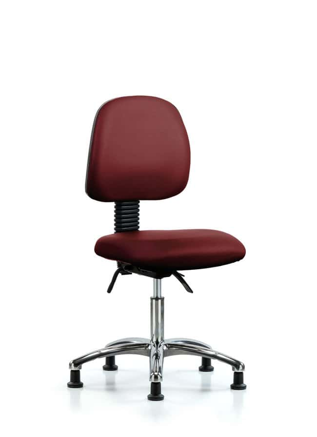 FisherbrandVinyl Chair Chrome - Desk Height with Medium Back and Casters