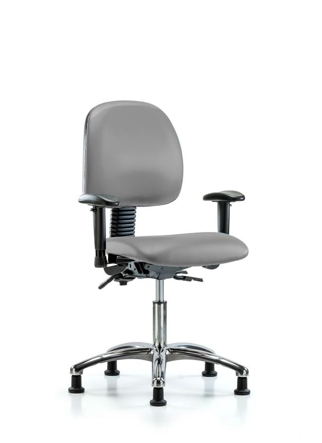 FisherbrandVinyl Chair Chrome - Desk Height with Medium Back Dove:Furniture