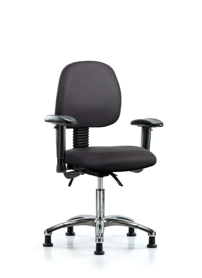FisherbrandVinyl Chair Chrome - Desk Height with Medium Back:Furniture:Seating