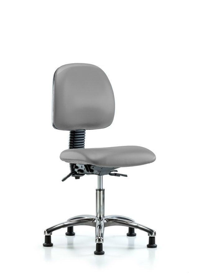 Fisherbrand Vinyl Chair Chrome - Desk Height with Medium Back, Seat Tilt,
