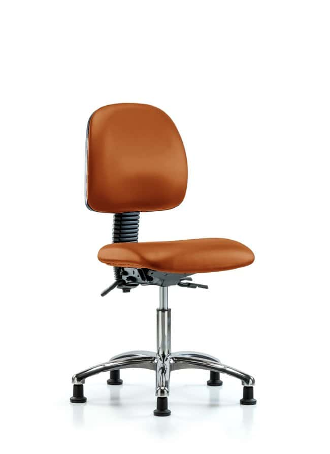 Fisherbrand Vinyl Chair Chrome - Desk Height with Medium Back, Seat Tilt,