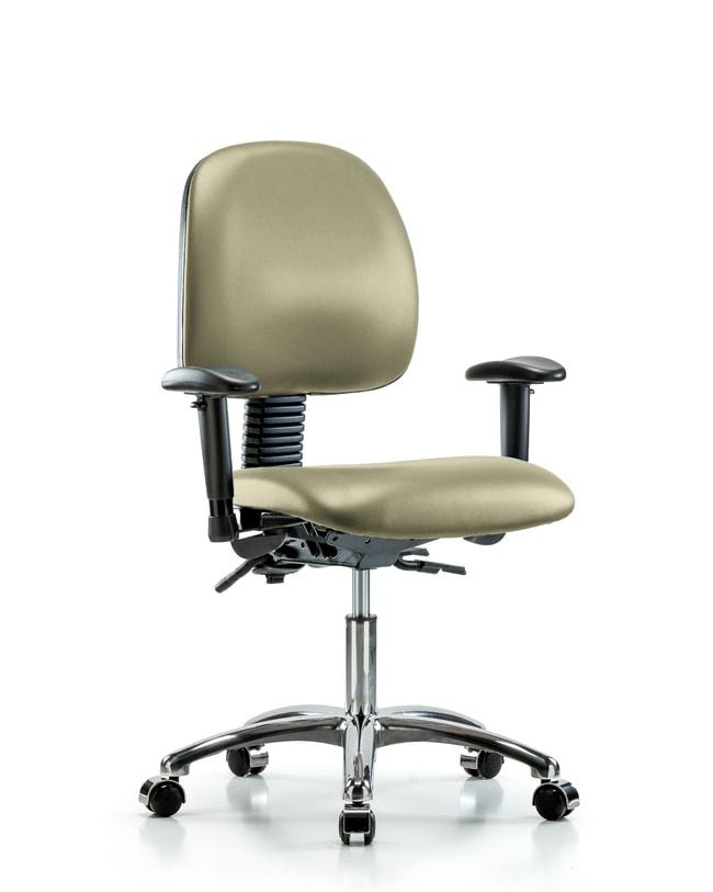 Fisherbrand Vinyl Chair Chrome - Desk Height with Medium Back, Seat Tilt