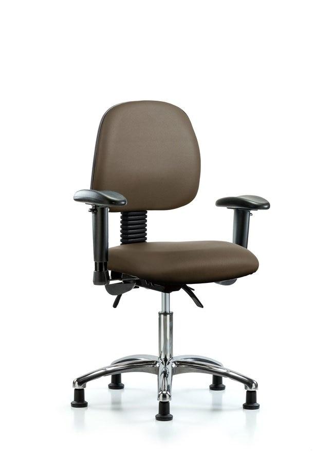 FisherbrandVinyl Chair Chrome - Desk Height with Medium Back, Seat Tilt:Furniture:Seating