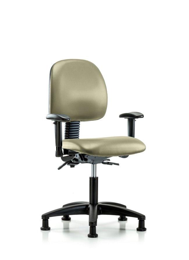Fisherbrand Vinyl Chair - Desk Height with Medium Back Adobe White:Furniture,
