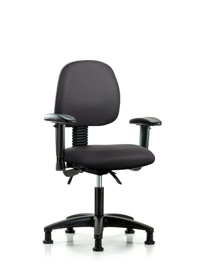 Fisherbrand Vinyl Chair - Desk Height with Medium Back Carbon:Furniture,