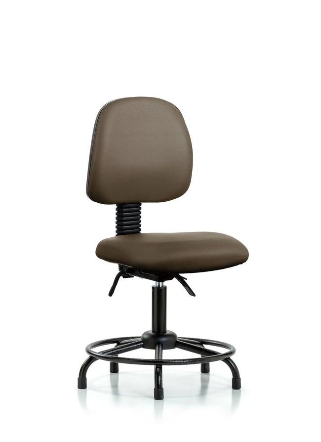 Fisherbrand Vinyl Chair - Desk Height with Round Tube Base, Medium Back,