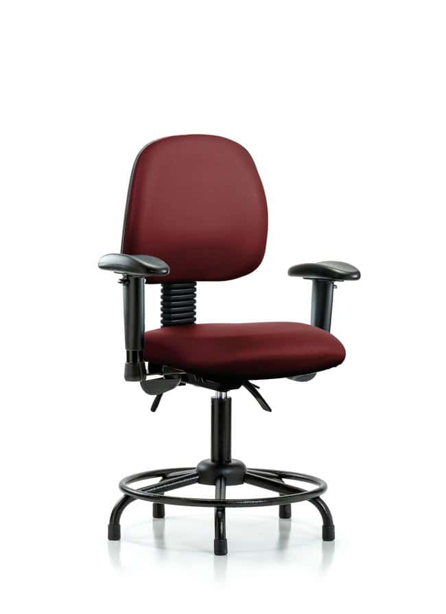 FisherbrandVinyl Chair - Desk Height with Round Tube Base, Medium Back:Furniture:Seating