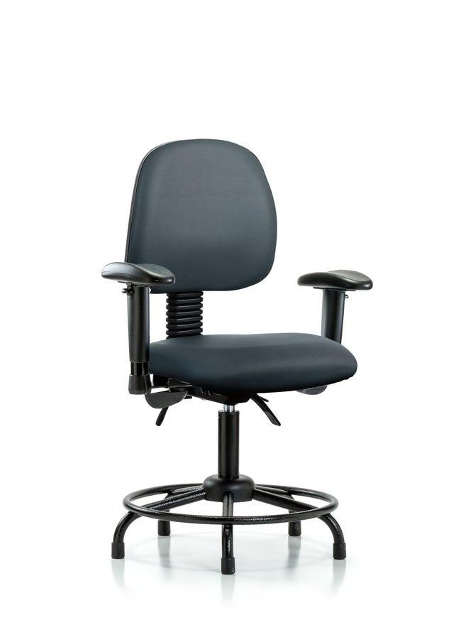 Fisherbrand Vinyl Chair - Desk Height with Round Tube Base, Medium Back