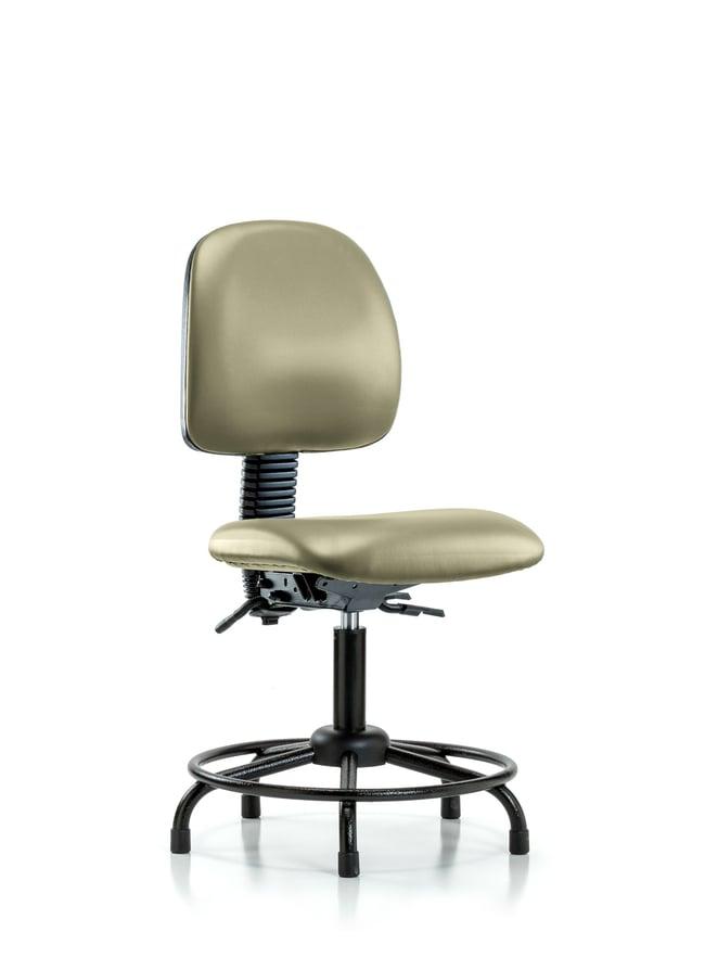 FisherbrandVinyl Chair - Desk Height with Round Tube Base, Medium Back,