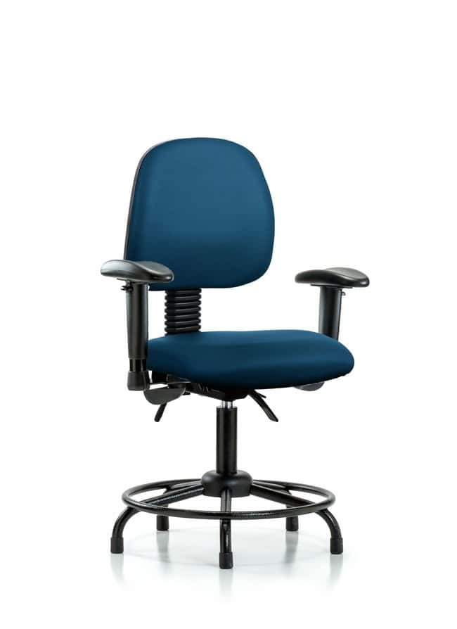 Fisherbrand Vinyl Chair - Desk Height with Round Tube Base, Medium Back,